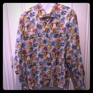 Drumohr linen tropical shirt